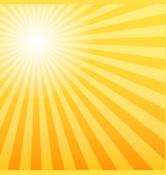 Sunray background with the light source offset vector
