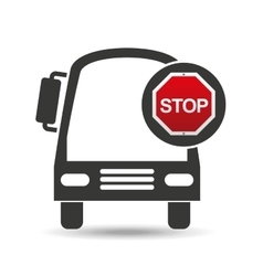 transport bus stop road sign design vector image vector image