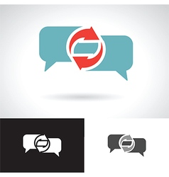 Communication speech bubble vector