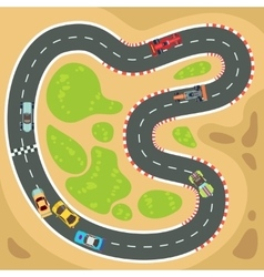 Racing computer and app game background vector image