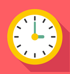 Clock icon flat style vector image