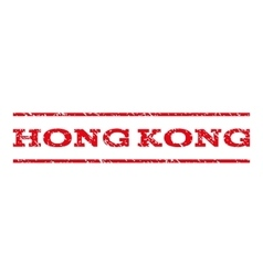 Hong kong watermark stamp vector