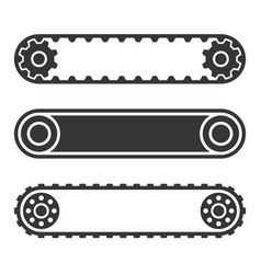 conveyor belt line set on white background vector image