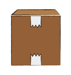 Box pack close to delivery services vector