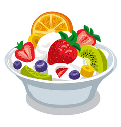 salad with yogurt vector image
