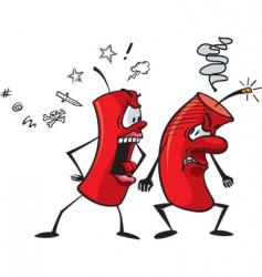 cartoon firecrackers vector image