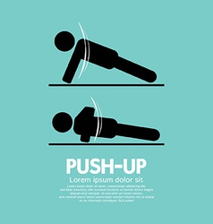 Push up sport sign vector