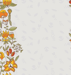 Flower border seamless texture with flowers use as vector