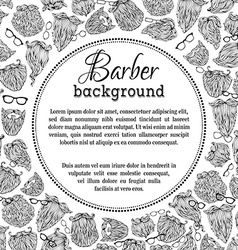 Black and white barber background vector