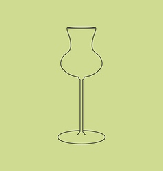Cognac glass icon vector