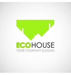 Eco house logo design ecological construction vector