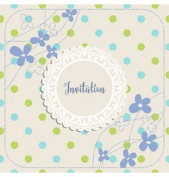 Invitation album or greeting card template vector