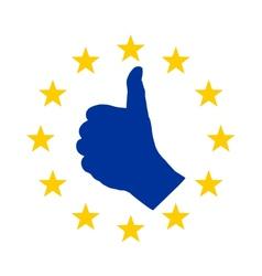 European finger signal vector image