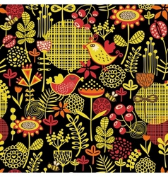 Beautiful seamless pattern of pretty flowers vector image vector image
