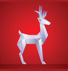 christmas reindeer paper origami vector image