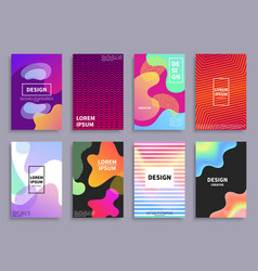 creative design covers set vector image