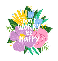dont worry be happy vector image