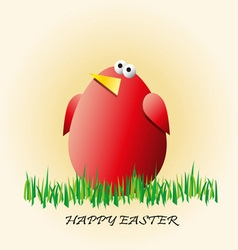 easter background with eggs in a grass vector image