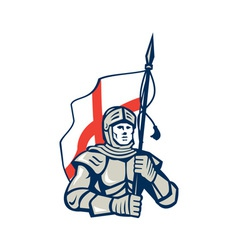 English knight england flag retro vector