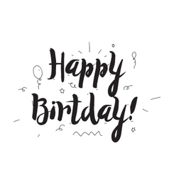 Happy Birthday Greeting card with modern vector image
