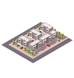 Isometric townhouses set vector