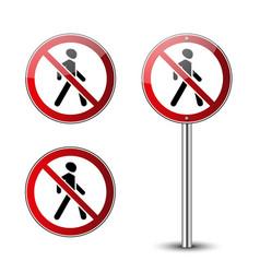 No walking sign vector