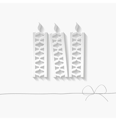 paper candles vector image vector image