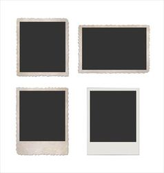 Retro photo frame set vector image vector image