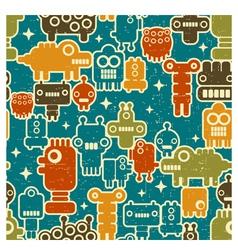 robot pattern vector image