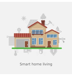 Smart home concept vector image vector image