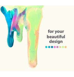 Smudges of paint colorful abstract vector