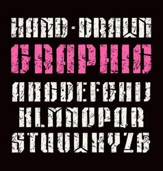 Stencil-plate sanserif font vector