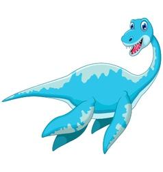 Swimming dinosaur cartoon vector