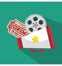 ticket cinema movie icon vector image