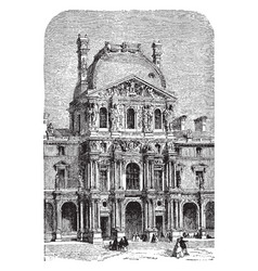 turgot pavilion of the new louvre vintage vector image vector image