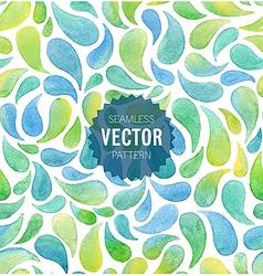 Watercolor seamless geometric pattern vector image