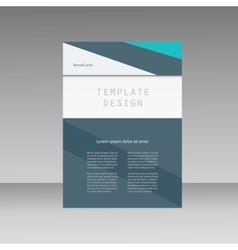 Annual report business brochure template cover vector