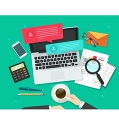 Social media marketing analysing online dialog vector
