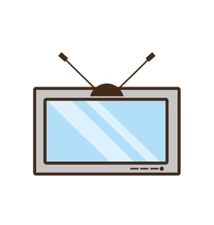 tv electronic house appliance vintage vector image