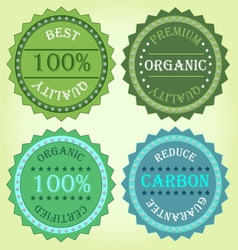 Collection of eco label product vector image