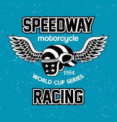 motorcycle speedway racing poster vector image