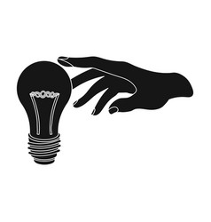 Replacement of an electric bulb incandescent lamp vector