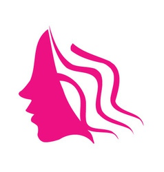 Profile of young woman vector