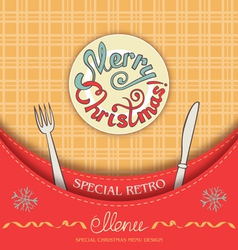 Retro christmas menu vector