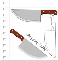 Knife with on paper vector