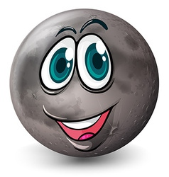 A grey planet with a face vector