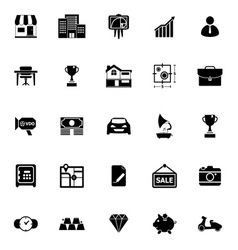 Asset and property icons on white background vector