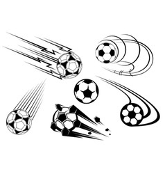 football icons vector image
