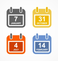 Simple calendar icon in flat style vector image