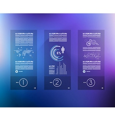 Infographic design template with glass surface vector